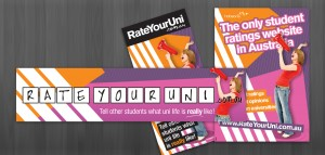 Hobsons Rate your Uni promotional collateral