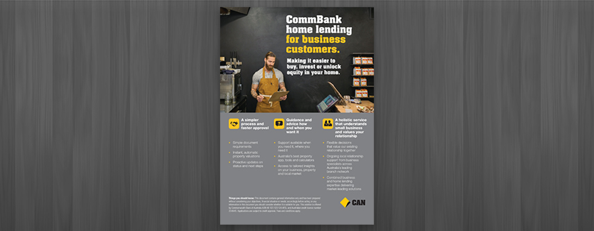 COMMONWEALTH BANK HOME LENDING FLYER